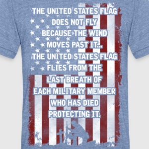 United states flag - Unisex Tri-Blend T-Shirt by American Apparel
