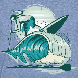 Surfer sea wave - Unisex Tri-Blend T-Shirt by American Apparel