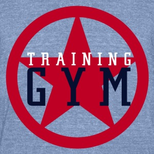 Training Gym - Unisex Tri-Blend T-Shirt by American Apparel