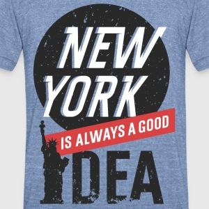 New York - Unisex Tri-Blend T-Shirt by American Apparel