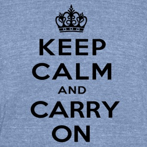 keep calm and carry on - Unisex Tri-Blend T-Shirt by American Apparel