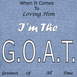 Loving GOAT (Him) - Unisex Tri-Blend T-Shirt by American Apparel