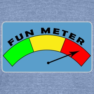 Fun Meter - Unisex Tri-Blend T-Shirt by American Apparel