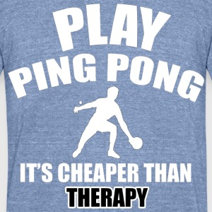 ping pong designs - Unisex Tri-Blend T-Shirt by American Apparel