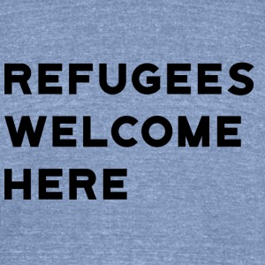Refugees Welcome Here - Unisex Tri-Blend T-Shirt by American Apparel