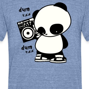 hip hop panda - Unisex Tri-Blend T-Shirt by American Apparel