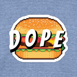 'Dope' Burger - Unisex Tri-Blend T-Shirt by American Apparel