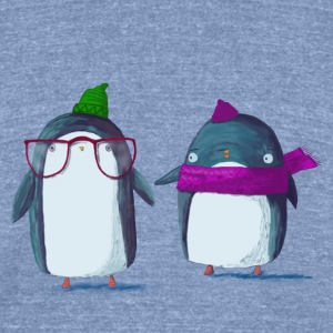 Funny Penguin - Unisex Tri-Blend T-Shirt by American Apparel