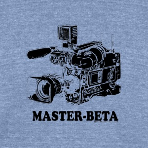 Funny Master Beta Filmmaking (For Light Colors) - Unisex Tri-Blend T-Shirt by American Apparel