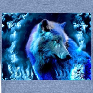 glowing wolf - Unisex Tri-Blend T-Shirt by American Apparel