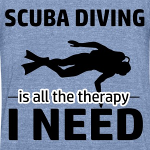 Scuba Diving is my therapy - Unisex Tri-Blend T-Shirt by American Apparel