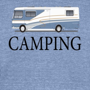 Winnie Camping - Unisex Tri-Blend T-Shirt by American Apparel