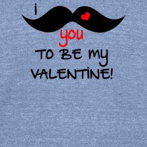 I Mustache You To Be My Valentine - Unisex Tri-Blend T-Shirt by American Apparel