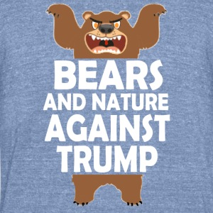 TRUMPBEARSw - Unisex Tri-Blend T-Shirt by American Apparel