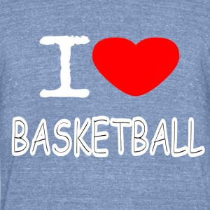 I LOVE BASKETBALL - Unisex Tri-Blend T-Shirt by American Apparel