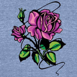 purple_roses - Unisex Tri-Blend T-Shirt by American Apparel
