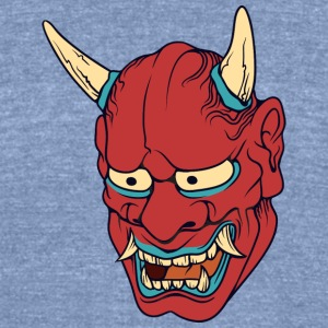 red_japan_demon - Unisex Tri-Blend T-Shirt by American Apparel