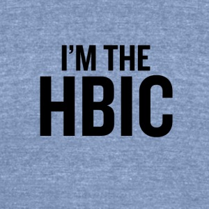 I m the HBIC Black - Unisex Tri-Blend T-Shirt by American Apparel
