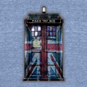 British Phone Box - Unisex Tri-Blend T-Shirt by American Apparel
