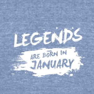 Legends are born in January - Unisex Tri-Blend T-Shirt by American Apparel