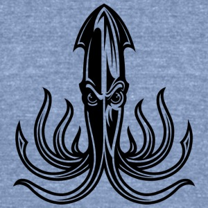 octopus_black - Unisex Tri-Blend T-Shirt by American Apparel