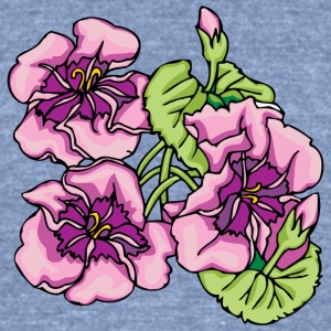 big_pink_flowers - Unisex Tri-Blend T-Shirt by American Apparel