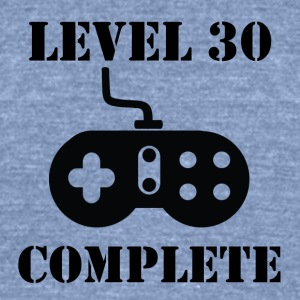 Level 30 Complete 30th Birthday - Unisex Tri-Blend T-Shirt by American Apparel