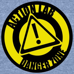 actionlabdangerzonelogo copy - Unisex Tri-Blend T-Shirt by American Apparel
