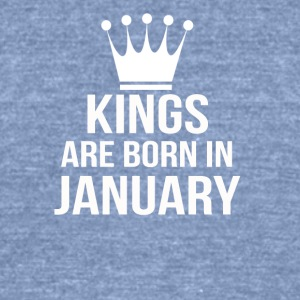 kings are born in january - Unisex Tri-Blend T-Shirt by American Apparel