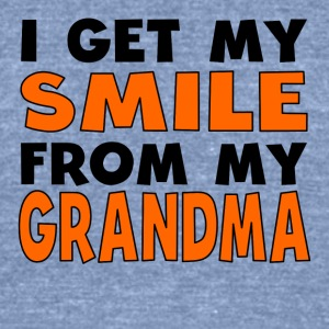I Get My Smile From My Grandma - Unisex Tri-Blend T-Shirt by American Apparel