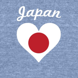 Japan Flag Heart - Unisex Tri-Blend T-Shirt by American Apparel