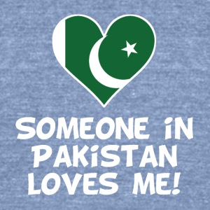 Someone In Pakistan Loves Me - Unisex Tri-Blend T-Shirt by American Apparel