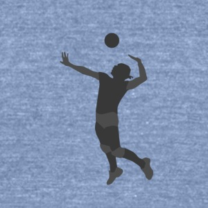 Volleyball Player - Unisex Tri-Blend T-Shirt by American Apparel