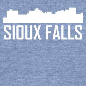 Sioux Falls South Dakota City Skyline - Unisex Tri-Blend T-Shirt by American Apparel