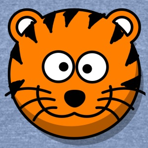 Funny Tiger Comic Style - Unisex Tri-Blend T-Shirt by American Apparel