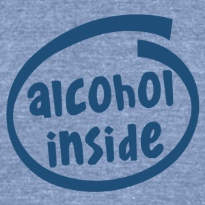 alcohol inside (1841C) - Unisex Tri-Blend T-Shirt by American Apparel