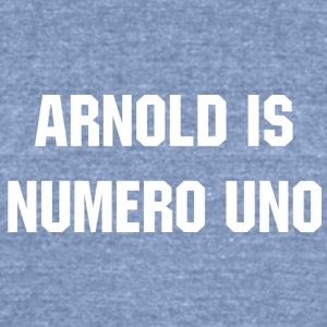 ARNOLD IS NUMERO UNO Schwarzenegger - Unisex Tri-Blend T-Shirt by American Apparel