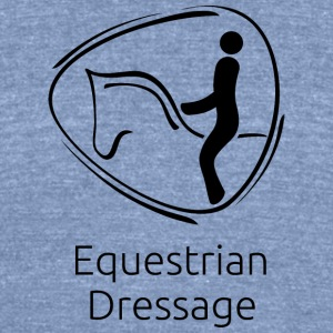 Equestrian_Dressage_black - Unisex Tri-Blend T-Shirt by American Apparel