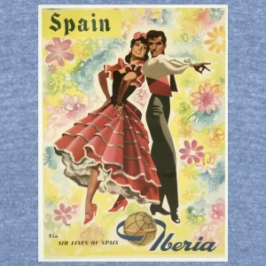 vintage spain - Unisex Tri-Blend T-Shirt by American Apparel