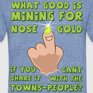 nose-gold - Unisex Tri-Blend T-Shirt by American Apparel