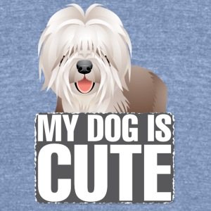 MY DOG IS CUTE - Unisex Tri-Blend T-Shirt by American Apparel
