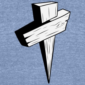 wood_christian_cross_2 - Unisex Tri-Blend T-Shirt by American Apparel