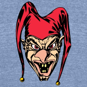 EVIL_CLOWN_6_colored - Unisex Tri-Blend T-Shirt by American Apparel