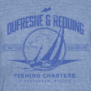 Dufresne and Redding Fishing Charters - Unisex Tri-Blend T-Shirt by American Apparel