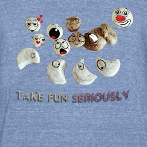 Fun with nuts unisex funny design and awesome - Unisex Tri-Blend T-Shirt by American Apparel
