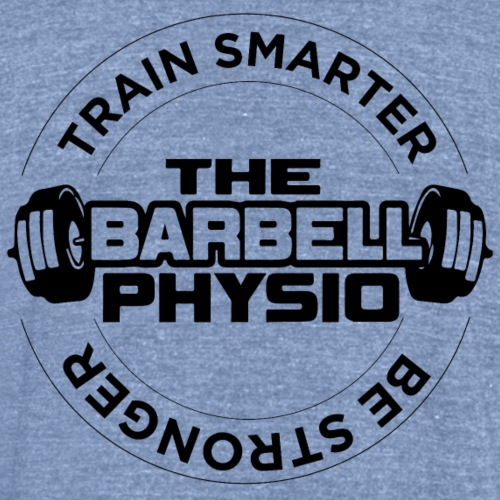 TheBarbellPhysio Front & Back - Unisex Tri-Blend T-Shirt