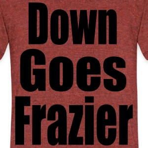 Down Goes Frazier - Unisex Tri-Blend T-Shirt by American Apparel