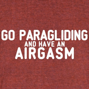 airgasm paragliding - Unisex Tri-Blend T-Shirt by American Apparel
