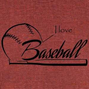 i love Baseball - Unisex Tri-Blend T-Shirt by American Apparel