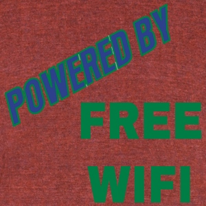 FREE WIFI - Unisex Tri-Blend T-Shirt by American Apparel